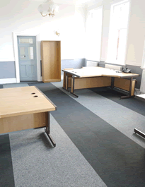 Armstrong One: Six desk office at Wallsend Town Hall
