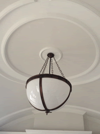 Edwardian Lighting Bowl at Wallsend Town Hall