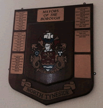 Original mayoral plaque at Wallsend Town Hall