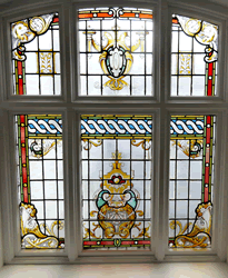 Stained Glass Windows at the Wallsend Town Hall